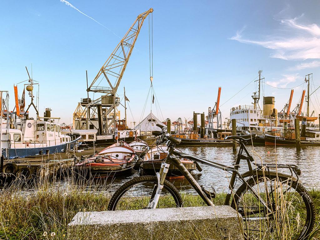 Schiffe im Hambuger Hafen